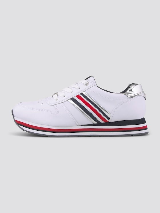 Sneaker mit Metallic-Details - unisex - white - 7 - TOM TAILOR