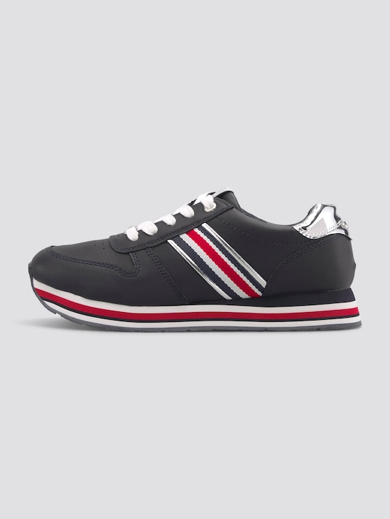 Sneaker mit Metallic-Details - unisex - navy - 1 - TOM TAILOR
