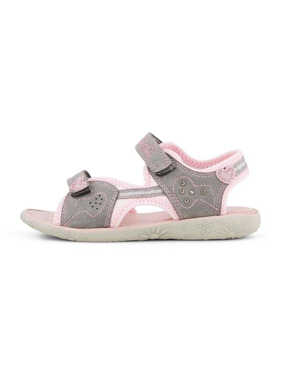 Klettverschluss-Sandalen mit Glitzer - unisex - grey - 7 - TOM TAILOR