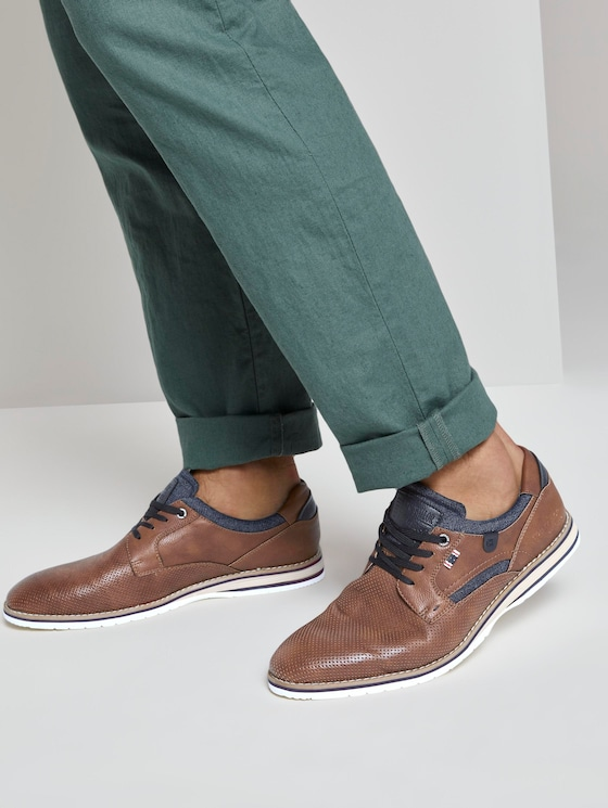 Lace-up shoes with details - Men - cognac - 5 - TOM TAILOR