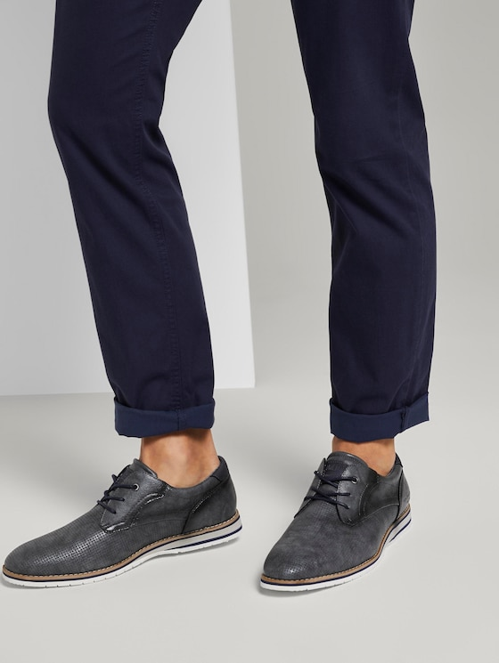 Textured lace-up shoes - Men - stone - 5 - TOM TAILOR