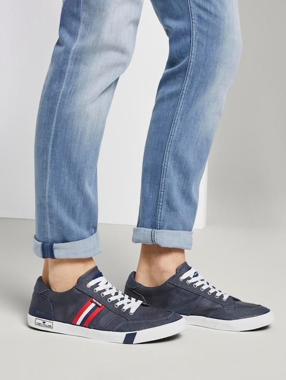 Sneaker im Struktur-Mix - Männer - navy - 5 - TOM TAILOR