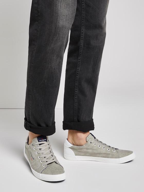 Melierter Sneaker - Männer - stone-grey - 5 - TOM TAILOR