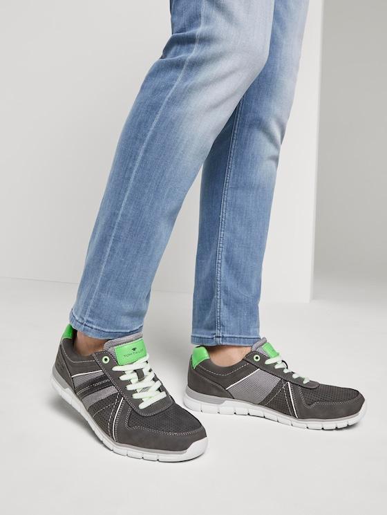 Sneaker im Struktur-Mix - Männer - grey - 5 - TOM TAILOR