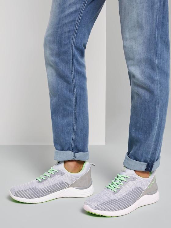 Sneaker mit Farb-Details - Männer - ltgrey-neon green - 5 - TOM TAILOR