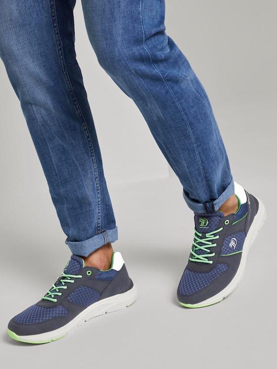 Sneaker mit Farbdetails - Männer - navy-neon green - 5 - TOM TAILOR Denim