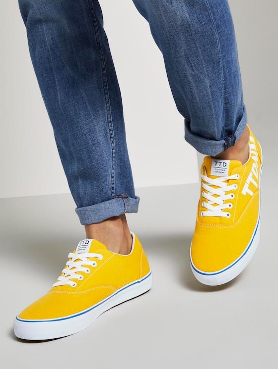 Sneaker mit Logo-Print - Männer - yellow - 5 - TOM TAILOR Denim
