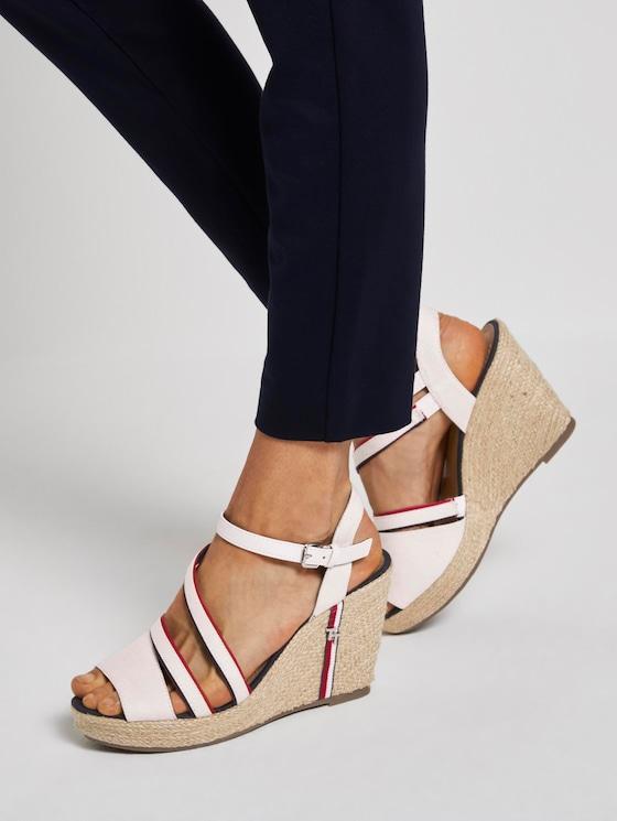 Sandalette mit Keilabsatz und Riemendetails - Frauen - egg - 5 - TOM TAILOR