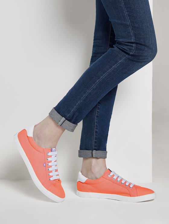 Simple fabric sneakers - Women - mint - 5 - TOM TAILOR