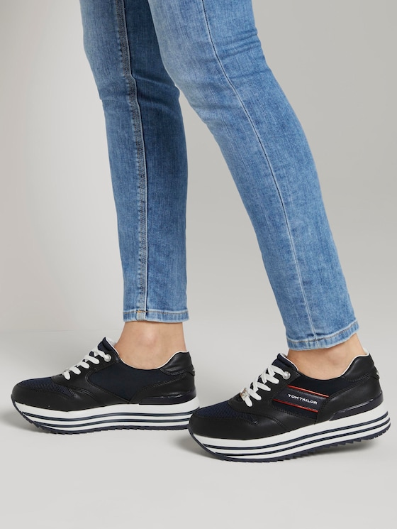 Sneaker mit Plateau-Sohle - Frauen - navy - 5 - TOM TAILOR