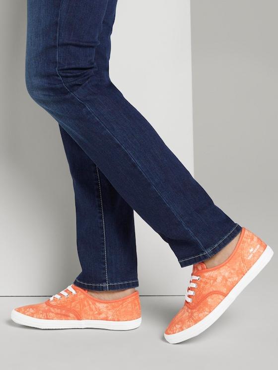 Batik fabric sneakers - Women - orange - 5 - TOM TAILOR