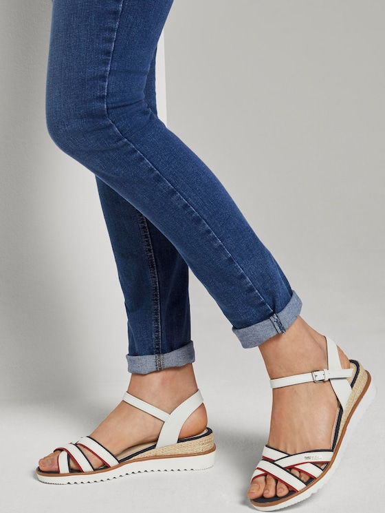 Faux leather sandals - Women - egg - 5 - TOM TAILOR
