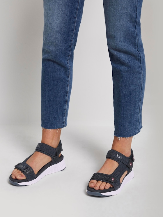 Klettverschluss Sandalen mit breiter Sohle - Frauen - navy - 5 - TOM TAILOR