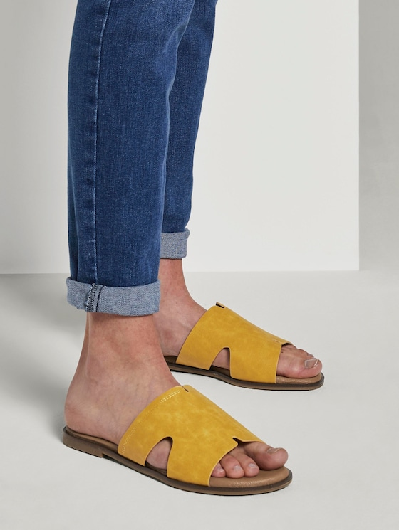Sandalen aus Lederimitat - Frauen - yellow - 5 - TOM TAILOR