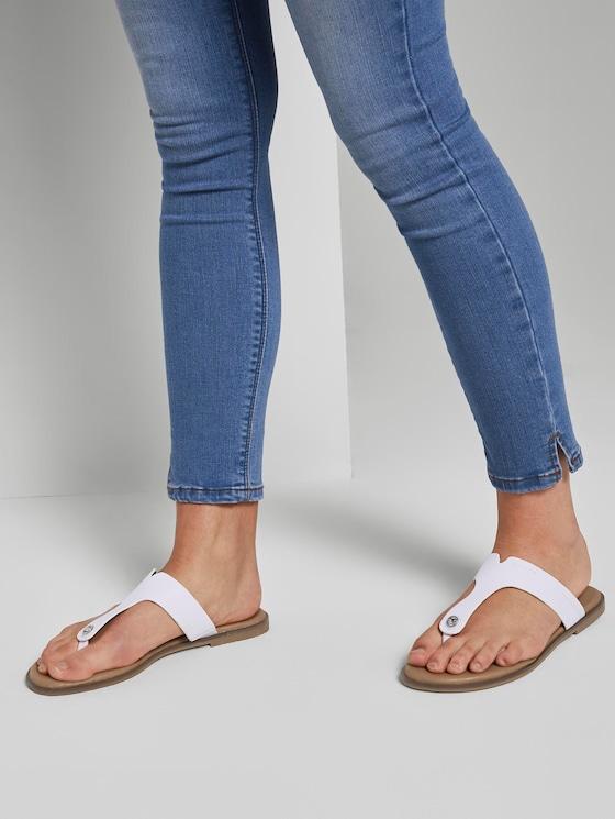 Faux leather flip-flops - Women - white - 5 - TOM TAILOR