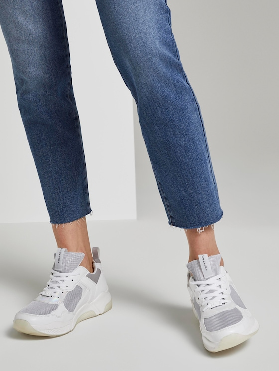 Sportieve sneaker met brede zool - Vrouwen - white grey - 5 - TOM TAILOR