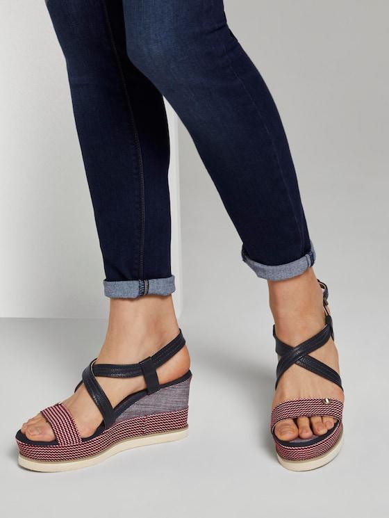 Sandaletten mit Keilabsatz - Frauen - red - 5 - TOM TAILOR