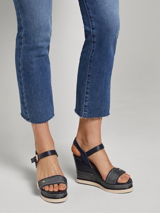Sandaletten mit Keilabsatz - Frauen - navy - 5 - TOM TAILOR