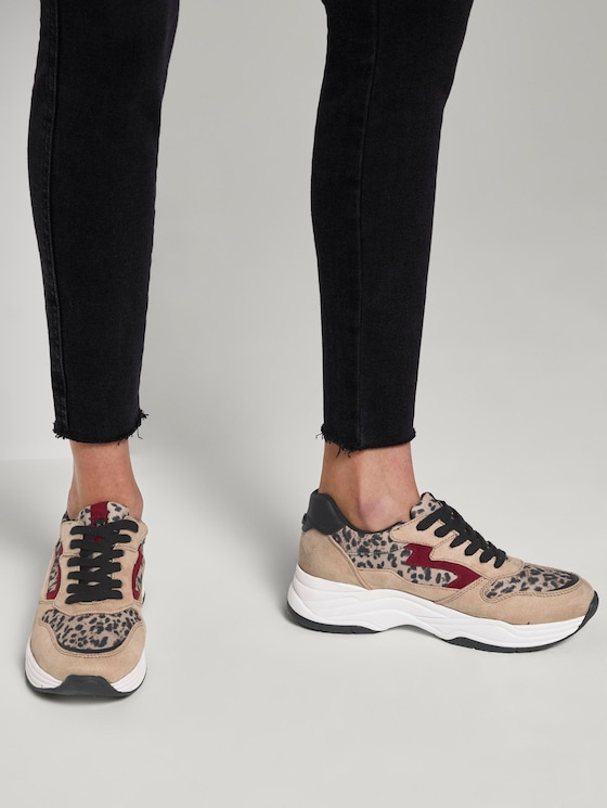 Sneaker mit Animal-Print - Frauen - beige-black - 5 - TOM TAILOR Denim