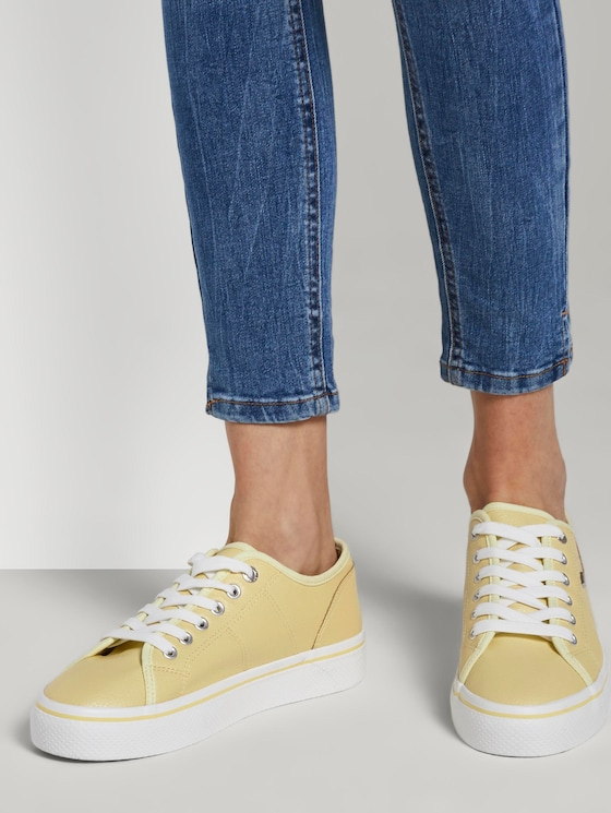 Stoff-Sneaker im Pastellton - Frauen - yellow - 5 - TOM TAILOR Denim