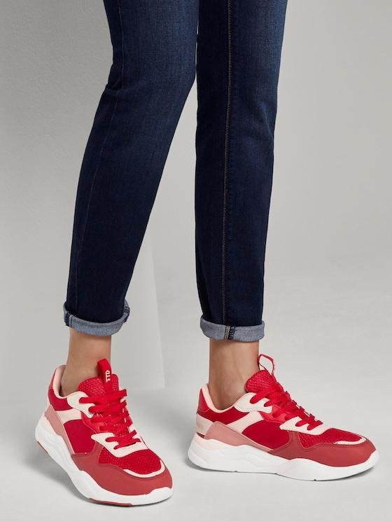 Sneaker mit Farbdetails - Frauen - red-coral - 5 - TOM TAILOR Denim