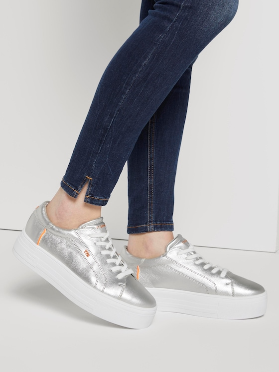 Metallic Sneaker - Frauen - silver - 5 - TOM TAILOR Denim
