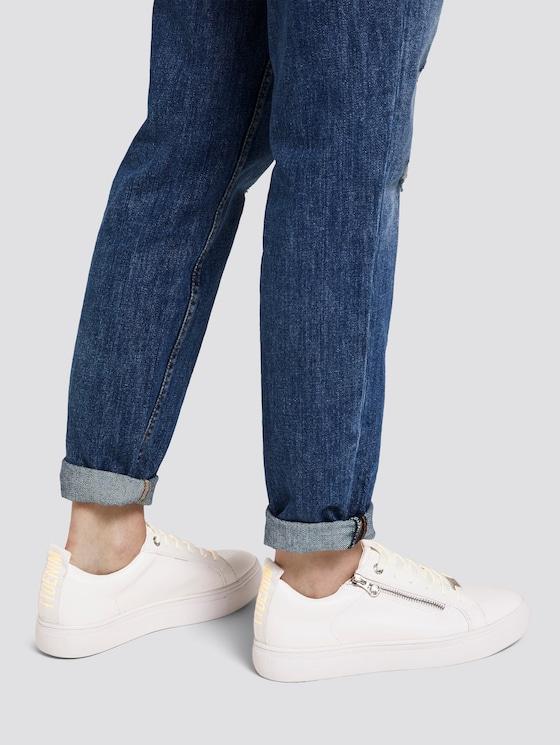 Sneaker mit Reißverschluss-Detail - Frauen - white-neon-yellow - 5 - TOM TAILOR Denim