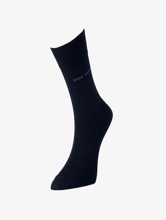TT men basic socks 2pcs indigo melange - Men - blue triangle print - 1 - TOM TAILOR