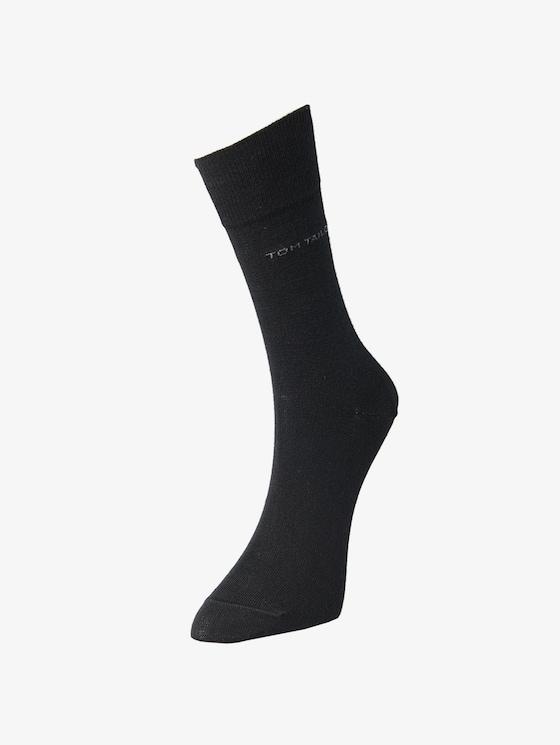 basic sokken in dubbel pak - Mannen - black - 1 - TOM TAILOR