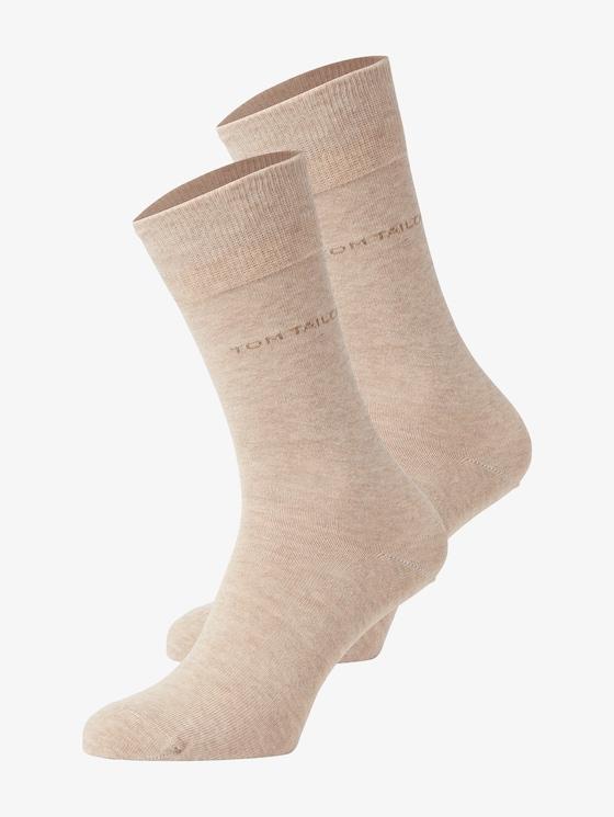 Basic Socken im Doppelpack - Männer - beige - 7 - TOM TAILOR