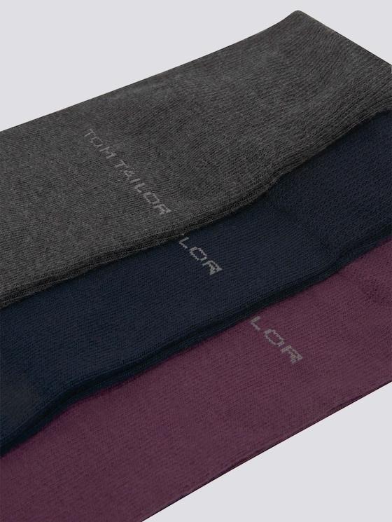 Basic sokken in drie Pack - in Sokken