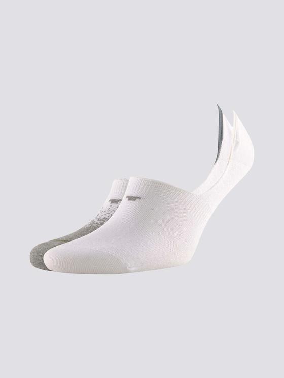 Sneaker-Socken im Dopppelpack - Männer - light grey melange - 7 - TOM TAILOR