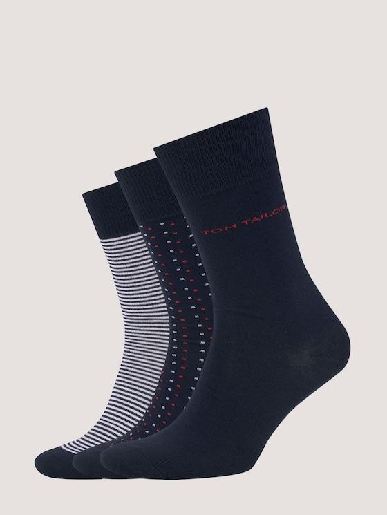 Marine Socken im Dreierpack - Männer - dark navy - 7 - TOM TAILOR