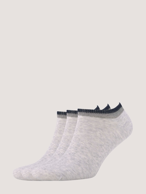 Colorblocking Socken im Dreierpack - Männer - light grey melange - 7 - TOM TAILOR