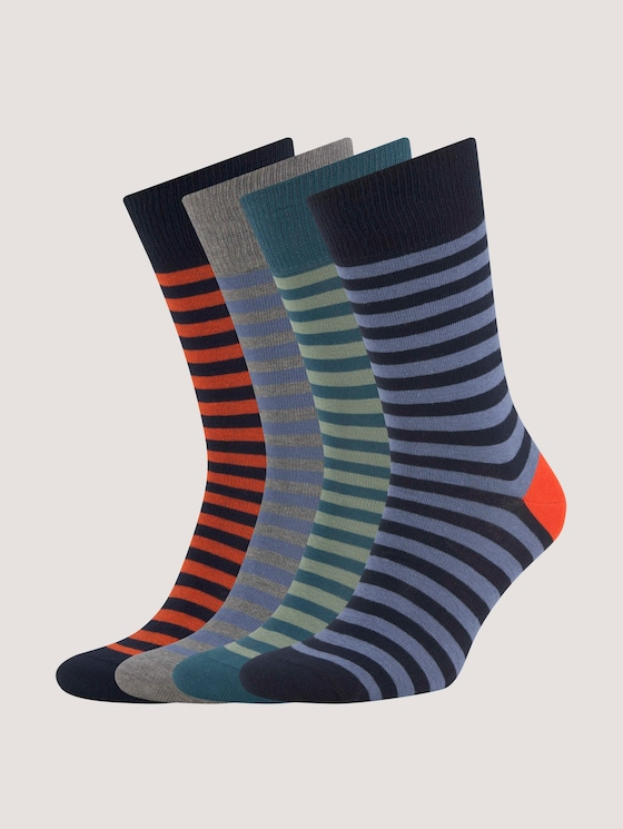 Socks with different designs in a pack of four - Men - dark navy - 7 - TOM TAILOR