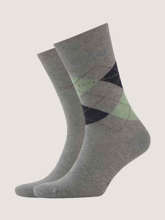 Socken im Doppel-Pack - Männer - shale green - 7 - TOM TAILOR