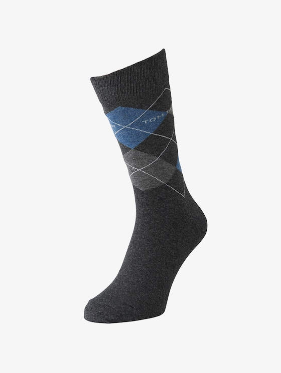 TT men's basic socks 2pcs - Men - anthracite melange - 1 - TOM TAILOR