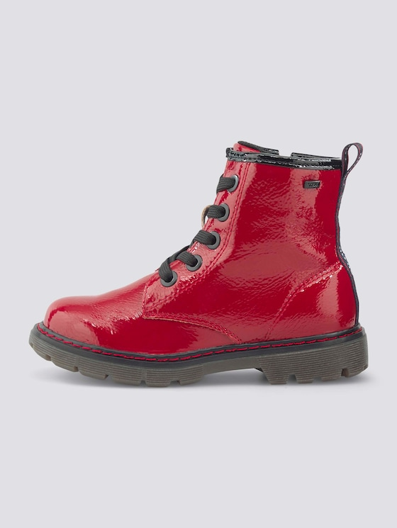 Gefütterte Lackleder Boots - unisex - red - 7 - TOM TAILOR