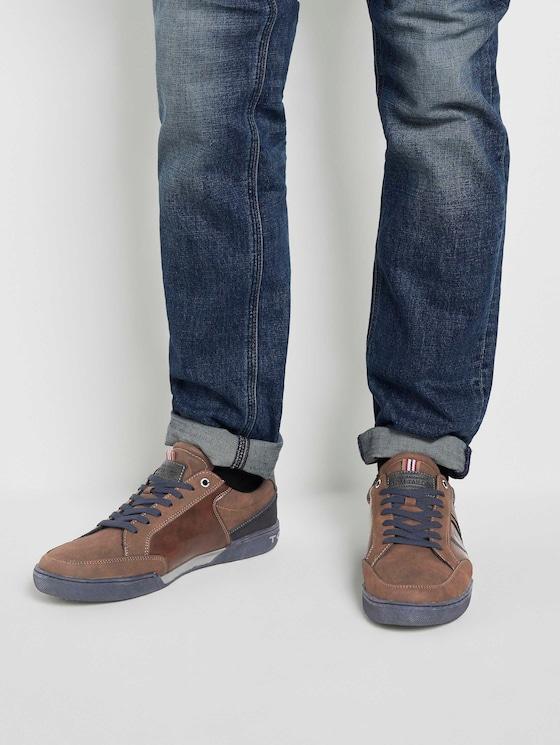 Imitatieleer sneakers - Mannen - brown - 5 - TOM TAILOR