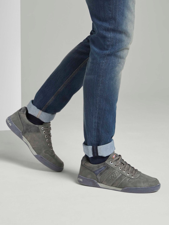 Imitatieleer sneakers - Mannen - grey - 5 - TOM TAILOR