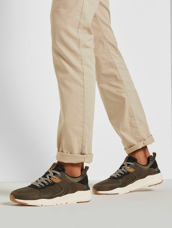 Sneakers with a wide sole - Men - khaki - 5 - TOM TAILOR