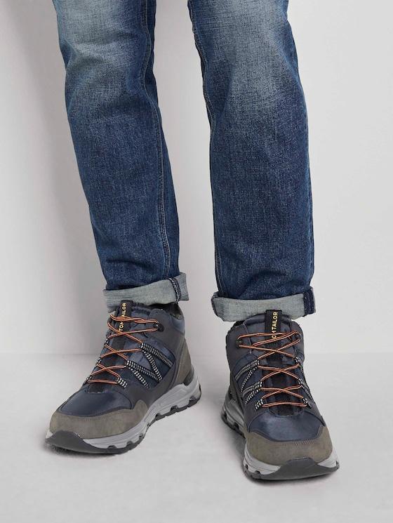 Gefütterte Trekking Sneaker - Männer - coal-blue - 5 - TOM TAILOR