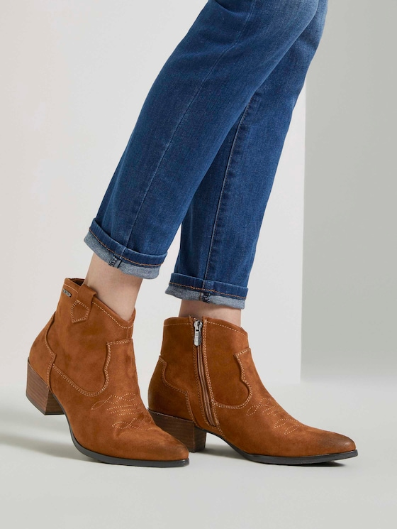 Cowboy Ankle Boots - Frauen - cognac - 5 - TOM TAILOR