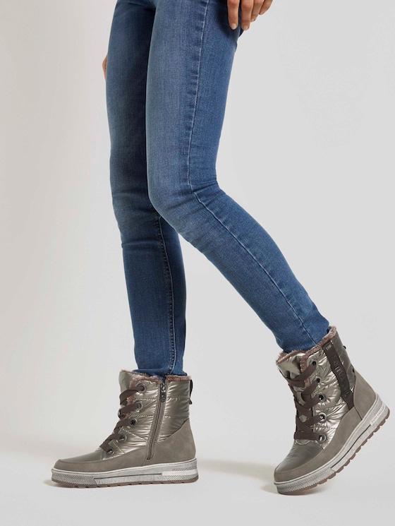 Stiefelette im Metallic Look - Frauen - mud - 5 - TOM TAILOR