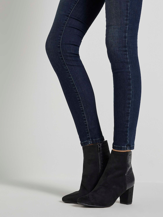 Ankle Boots mit Lederprägung - Frauen - black - 5 - TOM TAILOR