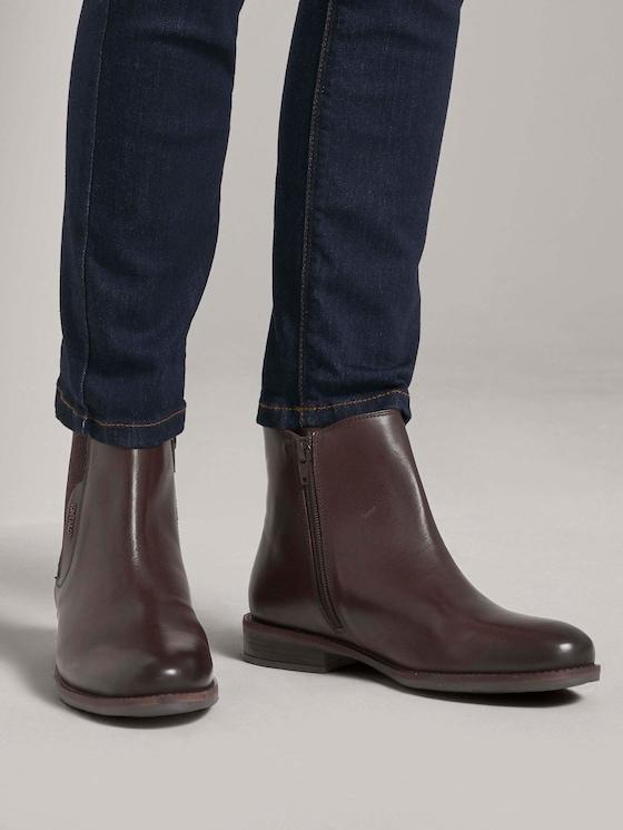Chelsea Boots aus Echtleder - Frauen - whisky - 5 - TOM TAILOR