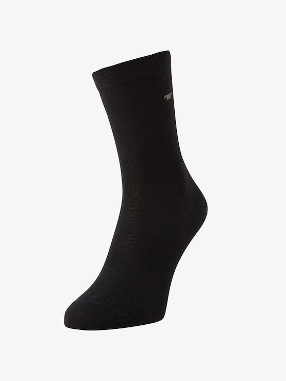 Socken im Dreierpack - unisex - black - 1 - TOM TAILOR