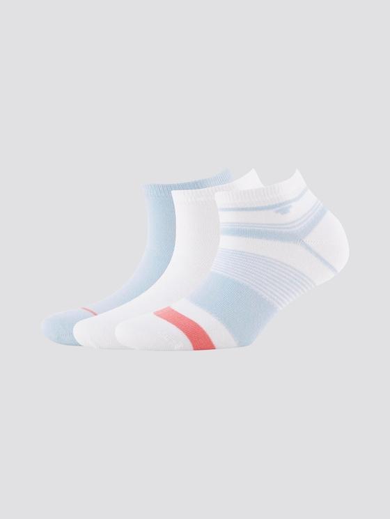 Sneakersocken im Dreierpack - unisex - cashmere blue - 7 - TOM TAILOR