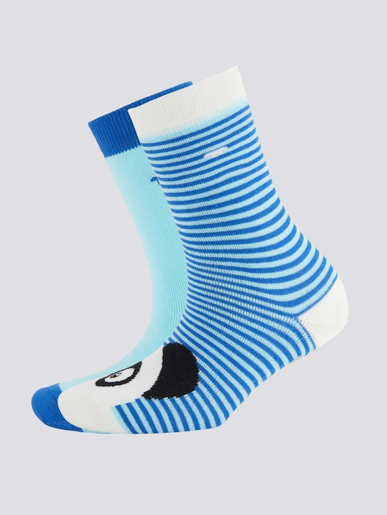 Socken mit Pandamotiv im Doppelpack - unisex - royal blue - 7 - TOM TAILOR