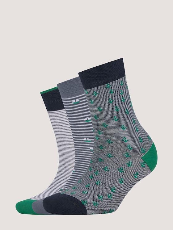Marine Socken im Dreierpack - unisex - ultra green - 7 - TOM TAILOR
